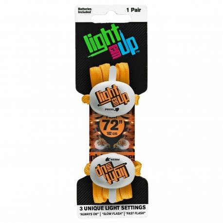 Light Em Up LED Laces 45inch Orange sold by Star Performance Co.