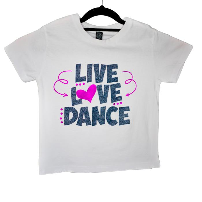 Dancediva T-shirt LIVE LOVE DANCE sold by Star Performance Co.