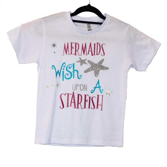 mermaids wish upon starfish sold by star performance co