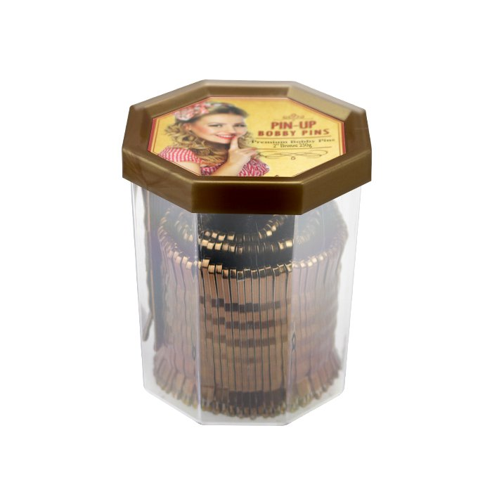 Pin-Up Premium Bobby Pins 2″ Bronze 250g