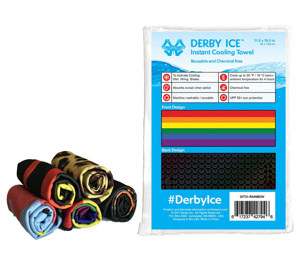 DERBY ICE Towel rainbow sold by star performance co.