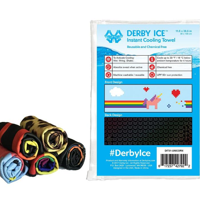 DERBY ICE Towel unicorn sold by star performance co.