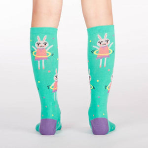 Sock It To Me Knee High Socks Hoola Hoopin Bunnies