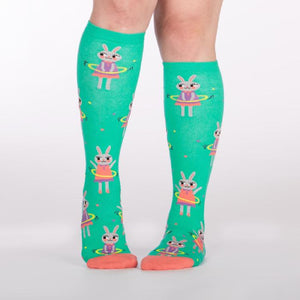Sock It To Me Knee High Socks Hoola Hoopin Bunnies sold by Star Performance Co.