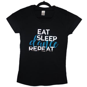 Dancediva T-shirt Eat Sleep Dance Repeat sold by Star Performance Co.