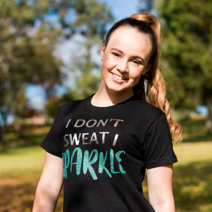 I don't sweat I sparkle custom t-shirt sold by star performance co.