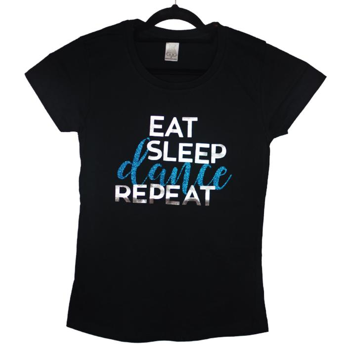 eat sleep dance repeat custom t-shirt sold by star performance co.