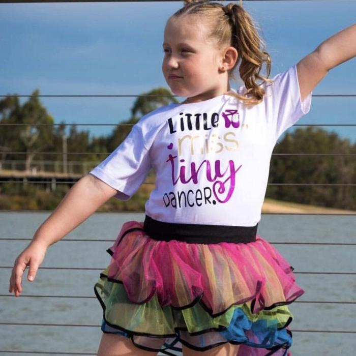 little miss tiny dancer custom t-shirt sold by star performance co.