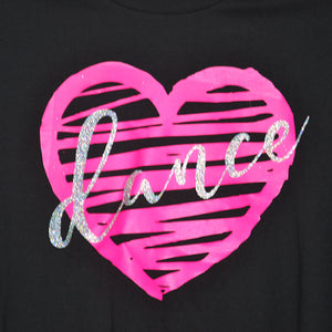 Dancediva T-shirt love heart Dance