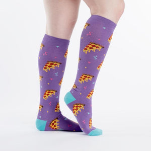 Sock It To Me Knee High Socks Pizza Party sold by star performance co.