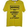 warning im a gymnast_glitter shirt from star performance co