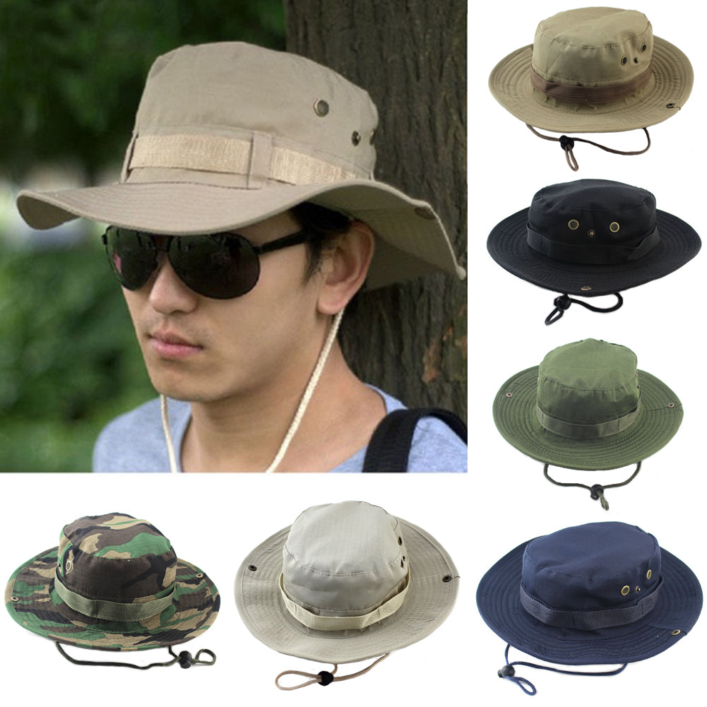2018 Mens Summer Sun Hat Casual Bucket Style Camping Hiking Travel sombrero  ... c154667a027