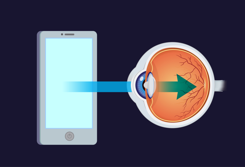 How blue light from device screens is killing your eyes.