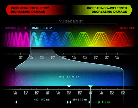 Visible Light Spectrum Blue Light