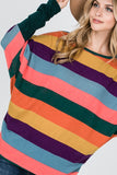 Candy Cane ~ Multi Color Striped Sweater