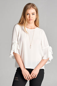 Ruffle Sleeve Blouse (Available in Black only)