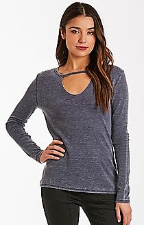 Burnout Thermal Top w/ Choker Detail