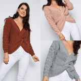 Bobble Twist Knitted Jumper Sweater (More Colors)