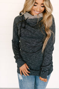 DoubleHood™ Sweatshirt - Charcoal/Aztec  (AA Collection) - Sugar Honey Doll Boutique