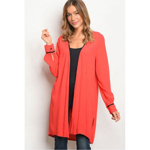 Open Front Longline Kimono Cardigan - Sugar Honey Doll Boutique