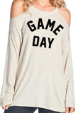 "Oatmeal Cookie ~ ""Game Day"" Top - Sugar Honey Doll Boutique"