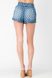 Snickers ~ High Rise Polka-Dot Paper Bag Shorts