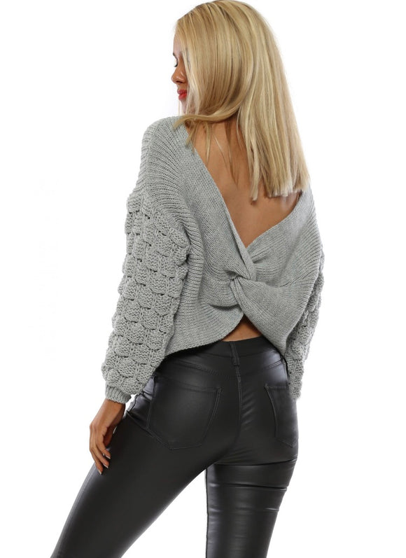 Bobble Twist Knitted Jumper Sweater (More Colors) - Sugar Honey Doll Boutique