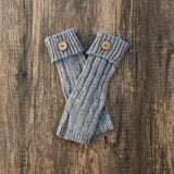 Cable Knit Leg Warmers W/ Button
