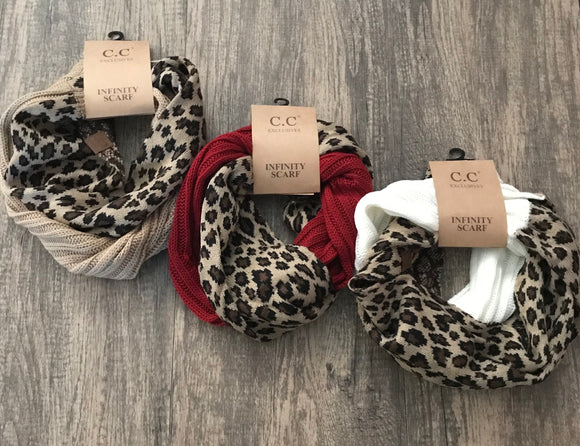Leopard CC Infinity Scarf (More Colors) - Sugar Honey Doll Boutique