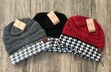 Houndstooth CC Beanie (More Colors) - Sugar Honey Doll Boutique