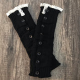 Crochet Lace Button Down Leg Warmers - Sugar Honey Doll Boutique