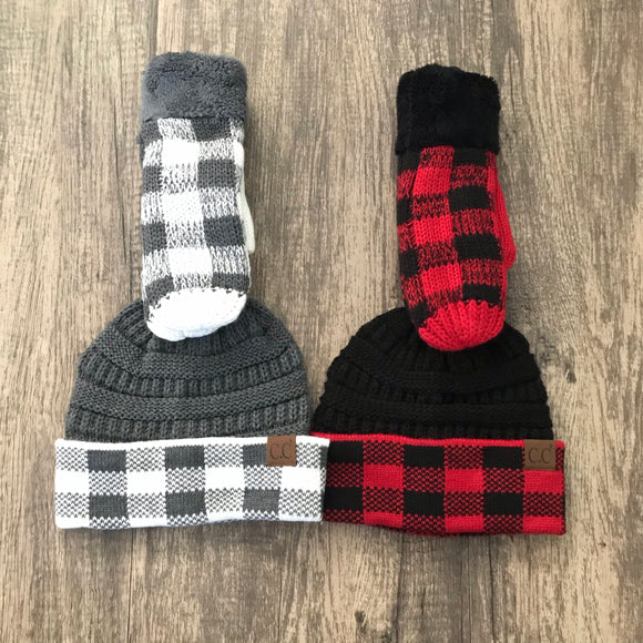 Buffalo Plaid CC Mittens (More Colors)