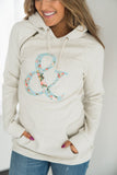 SingleHood Sweatshirt - Oatmeal Floral Logo  (AA Collection)