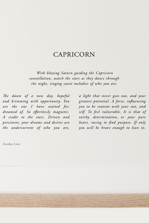 Sunday Lane Zodiac 04 // Capricorn