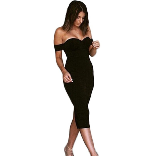 'Celine' Black Dress