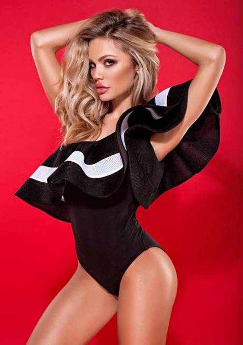 'Cynthia' Glamour Off-Shoulder Bodysuit & Monokini