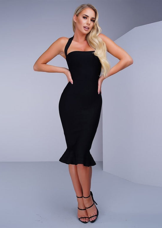 'Ellen' Black Bandage Dress