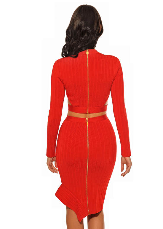 'Ember' Red Cut Out Bandage 2 Piece