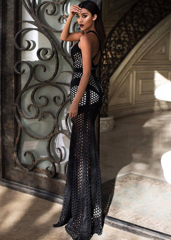 'Nora' Black Cut Out Gown