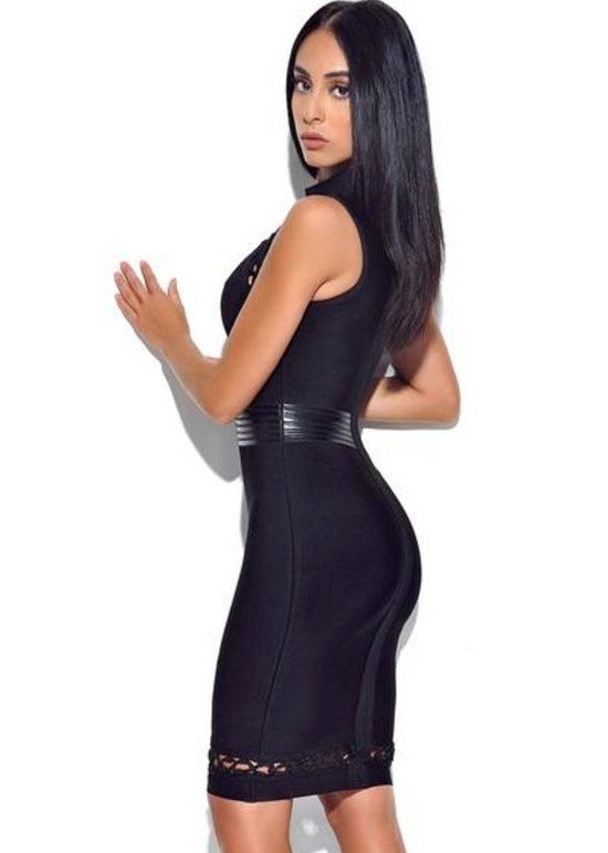 'Lily' Black Bandage Dress