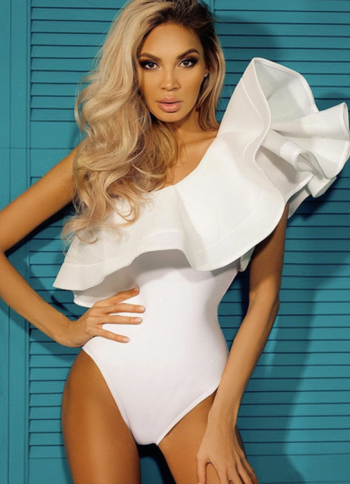 'Naomie' Glamour Off-Shoulder Bodysuit & Monokini