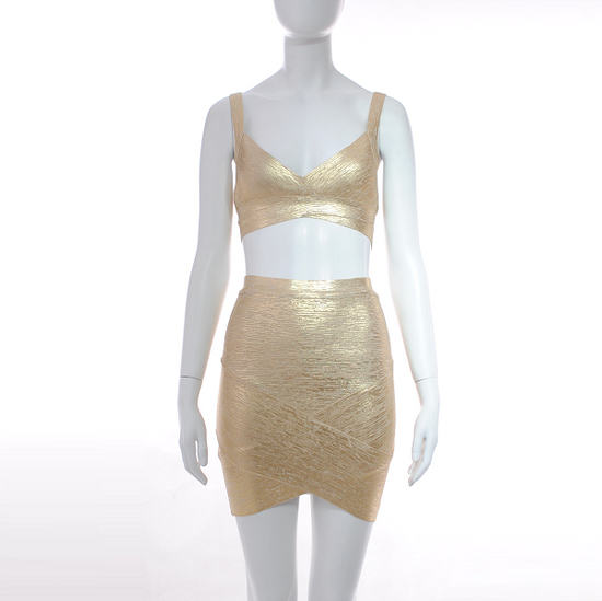 'Kissed By The Sun' Mini Bandage Two Piece Dress