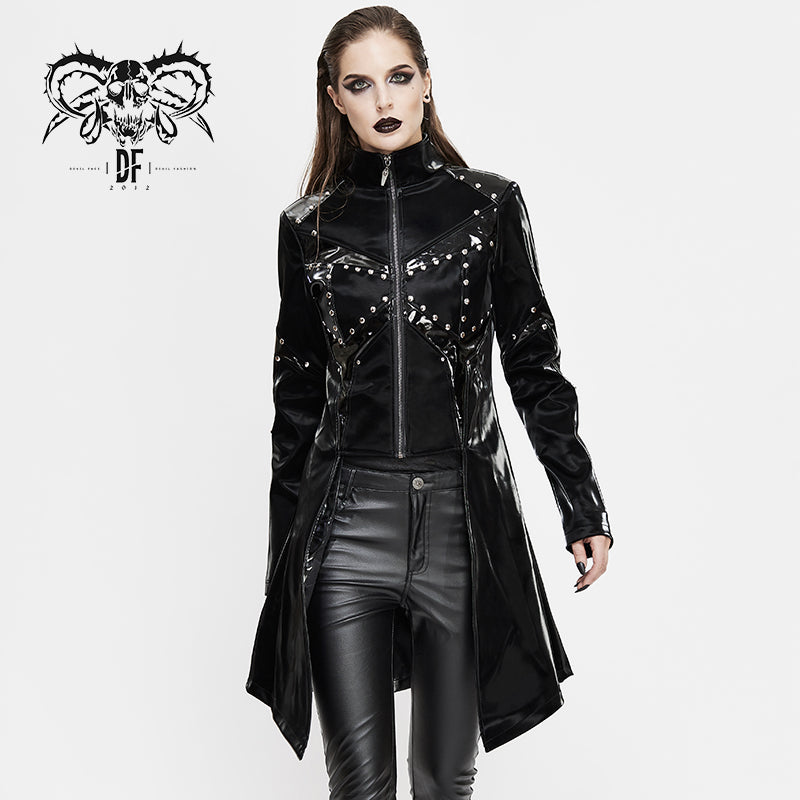 Chaos PU Leather Jacket by Devil Fashion