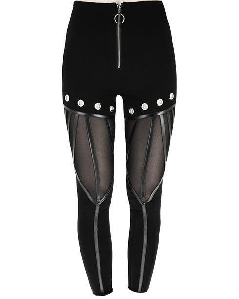 Gothic Eyelets Leggings by Restyle