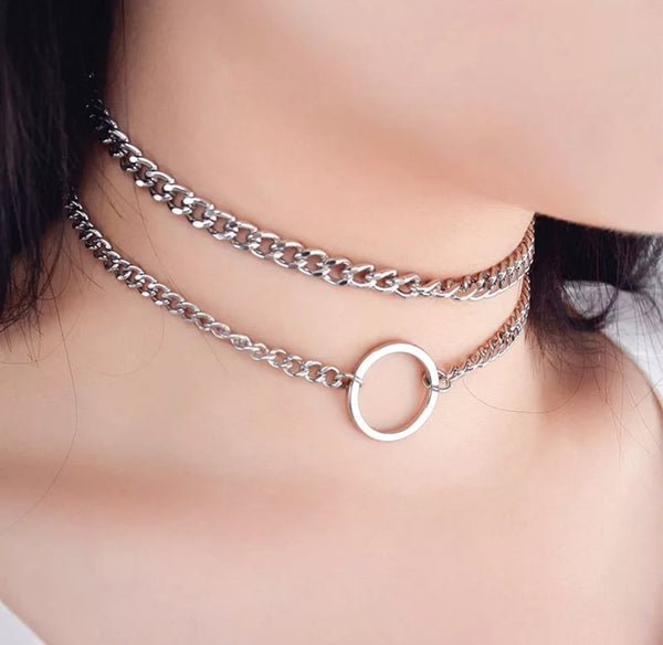 Double Layer Chain Choker