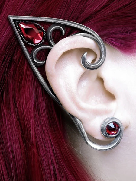 Elvyn Ear-Wrap Pewter by Alchemy Gothic