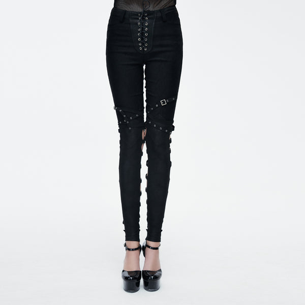 Devil's Grin Lace Up Pants by Devil Fashion