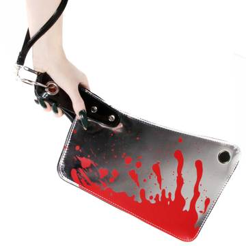 Cleaver Clutch Metallic Bag by Kreepsville 666