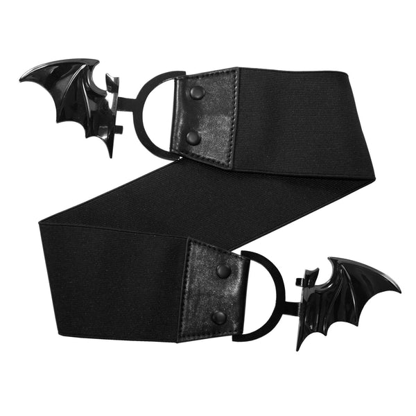 Elastic Waist Belt Bat Black by Kreepsville 666