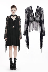 Lace Tassle Cardigan by Dark In Love